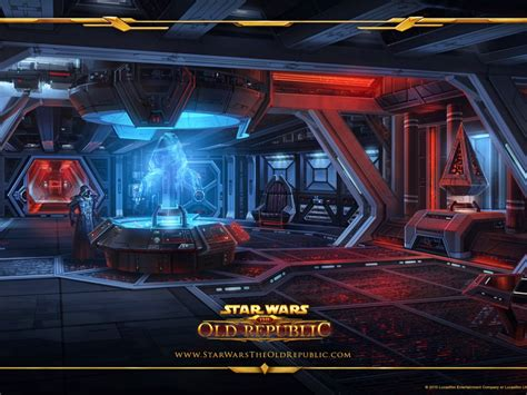 Star Wars The Old Republic Spaceship Inner View Visually