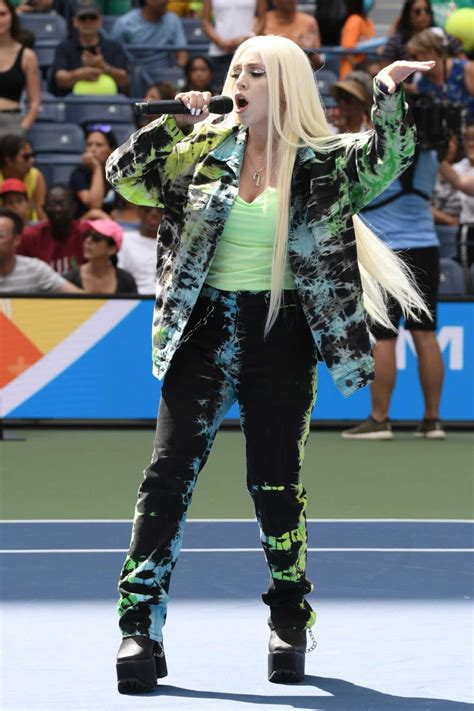Ava Max Attends Arthur Ashe Kids' Day in New York City