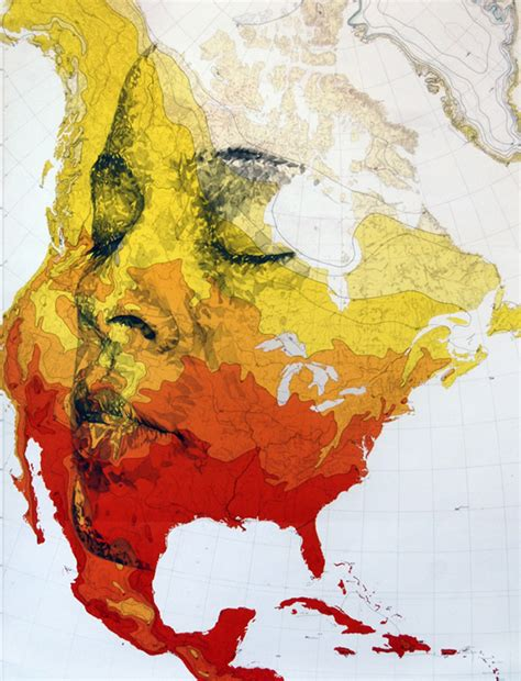 Human Portraits Hidden in the Topography of Maps - Neatorama