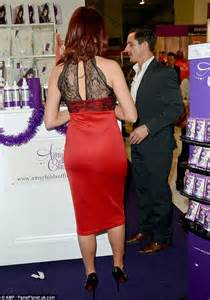 Amy Childs and Peter Andre promote their sexy stocking