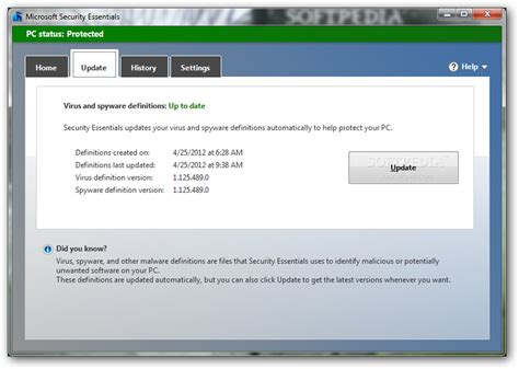 Download Microsoft Security Essentials - MSE 4