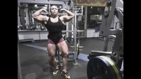 Young FBB- Massive Quads and Biceps - YouTube
