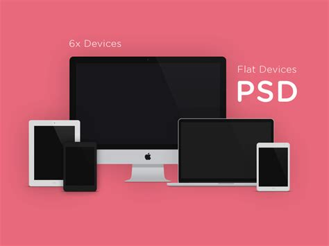 Flat Design Devices With PSD Mockups | Freebies | Graphic