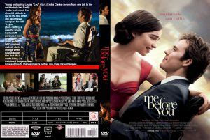 Me Before You dvd cover & label (2016) R0 CUSTOM