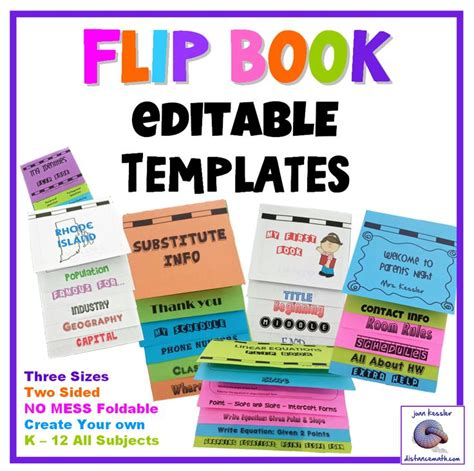 Interactive Notebooks Flip Book Templates Foldable - NO