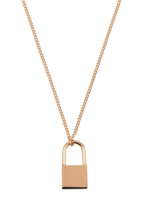 Kette mit Schloss Anhänger in Rosegold - Happiness Boutique