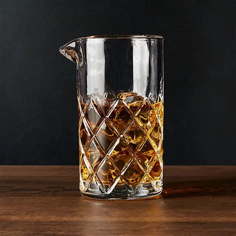 Hatch Mixing Glass + Reviews | Crate and Barrel