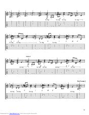 Man On The Side guitar pro tab by John Mayer