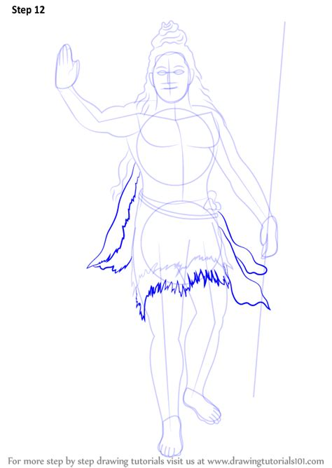 Learn How to Draw Lord Shiva Standing (Hinduism) Step by