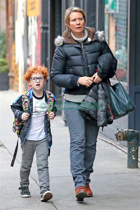 EXCLUSIVE: Cynthia Nixon steps out with her son in New
