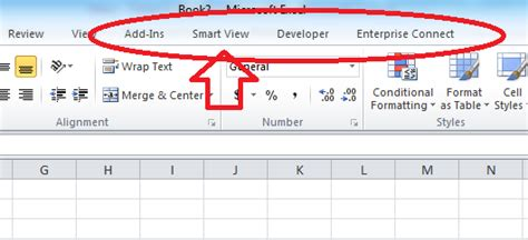 ruby - SmartView Excel Add-In Not Available when using