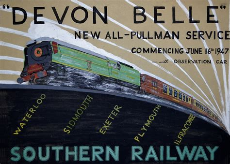 Vintage train posters on display at Darnley Fine Art