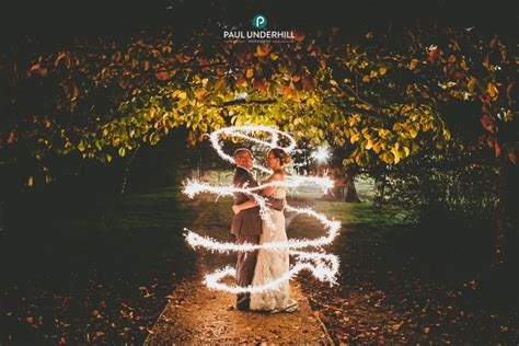 Creative wedding photography   Fun with sparklers during