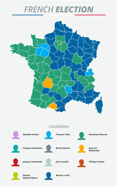 French election results MAPPED: Le Pen and Macron divide