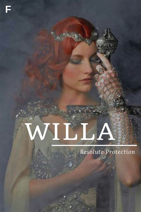 Willa, meaning Resolute Protection, German names, W baby