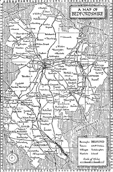Active Map of Bedfordshire