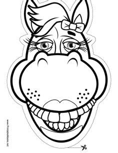 The wide grin on this horse outline mask will be a real