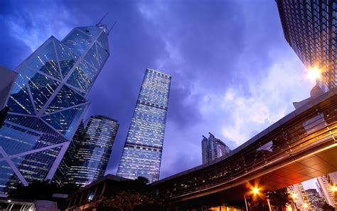 China Hong Kong Skyscrapers And Buildings With Modern