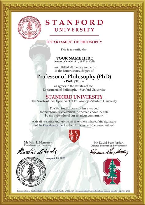 ♛Novelty A4 University Degree Certificate (The Real Deal