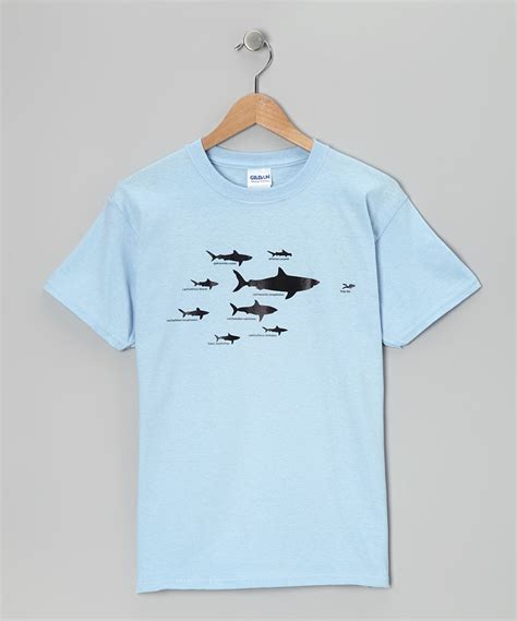 Light Blue Shark Hierarchy Tee (With images) | Blue shark