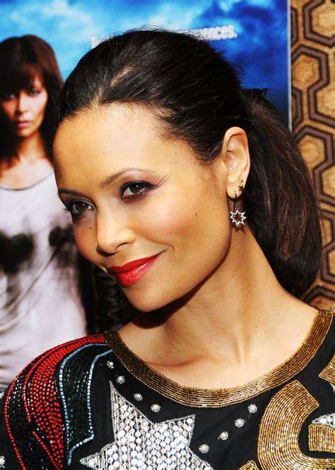 Thandie Newton Wears Bold Vintage Beaded Dress To Rogue